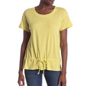 Madewell yellow-green drawstring tshirt